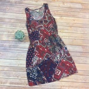 Lucky Brand Print Sleeveless Dress
